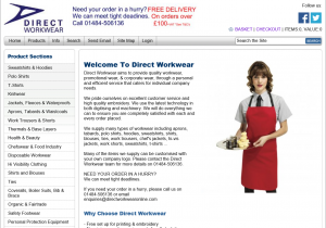 Direct Workwear Web Site